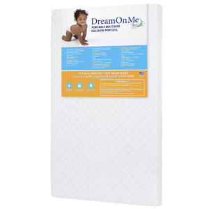 Dream On Me 3 Mini/Portable Crib Mattress White